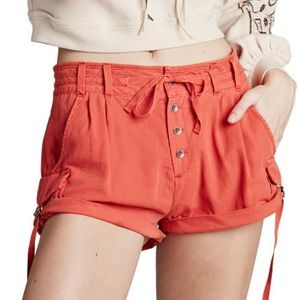 Free People Melvin Roll Cargo Cotton Shorts 10